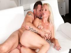 Euro blonde milf gets fucked in the ass by a big hard cock