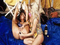 Two young women tame each others wet and throbbing pussies.