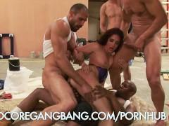 Model Trapped in a Hardcore Gangbang