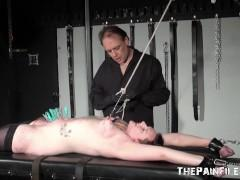 Amateur slaves intense torture and hardcore bbw bdsm of stretched bondage