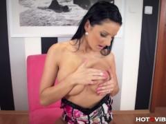 Busty Euro Babe Fucks Herself Silly