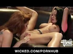 Babe party at dance club turns into HOT pussy licking lesbian fes