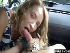 She sucks his cock on their way to the supermarket