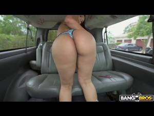 BangBros.Com - Rose's phat booty and perfect tits made it easy to convince guys to hop in the bus