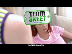 Team Skeat - A trio with a beautiful young woman and a veteran ready to swallow all the milk